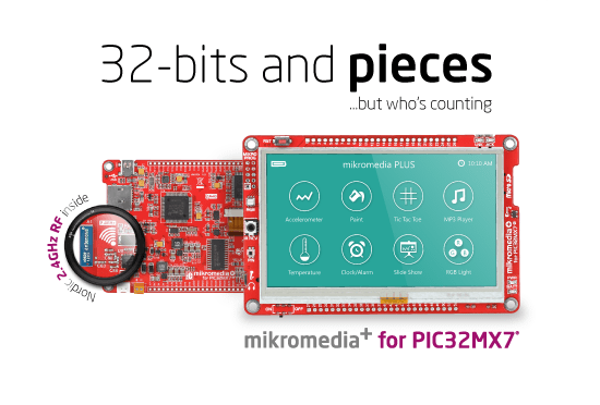 mikromedia plus for PIC32MX7 released!