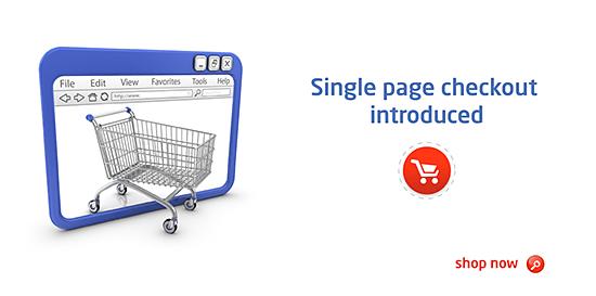 Single page checkout