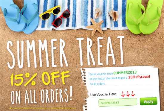 Summer Treat - 15% OFF on all orders!