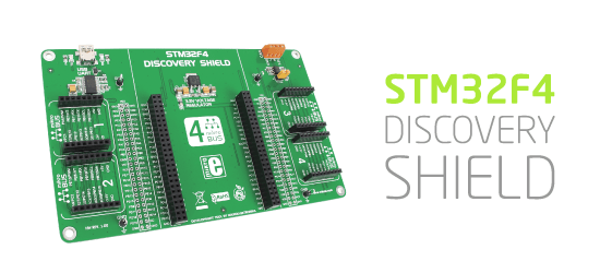 STM32F4 Discovery Shield released!