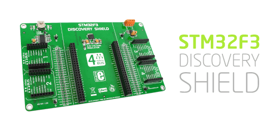 STM32F3 Discovery Shield Released!
