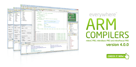 ARM compilers v4.0.0 released!