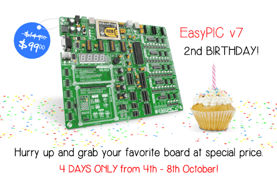 EasyPIC v7 birthday discount!