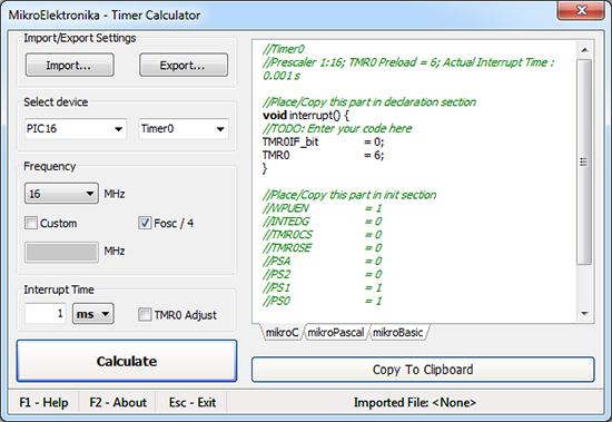 Timer Calculator v0.90beta