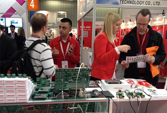 Mikroelektronika at Embedded World 2014