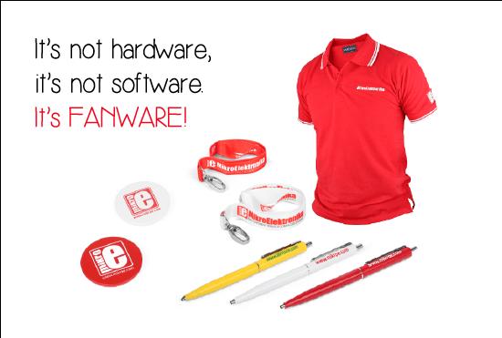 MikroElektronika, shirts, badges and products