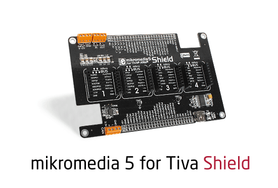 mikromedia 5 for Tiva Shield released