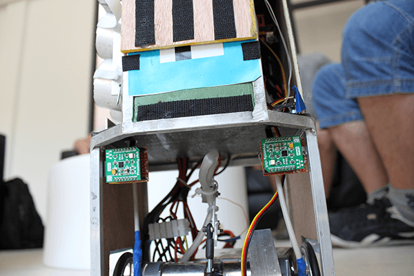 Robot with click boards inside