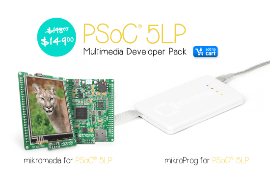 PSoC 5LP multimedia development pack