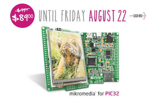 mikromedia for PIC32 for $89