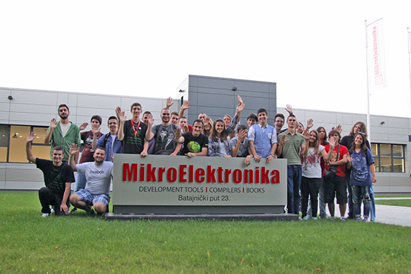 Petnica young talents visiting MikroElektronika HQ