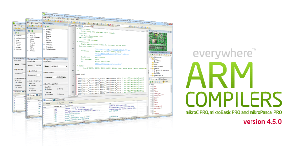 ARM compilers version 4.5.0