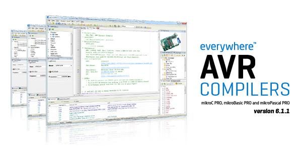 AVR Compilers live update 6.1.1.