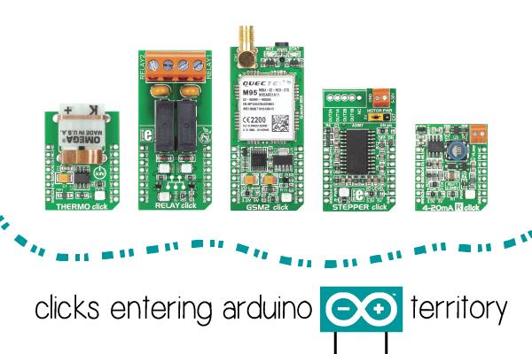 Arduino click shield