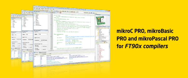 mikroC, mikroBasic and mikroPascal for FT90x