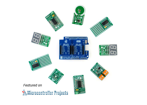 click boards on microcontroller-projects.com