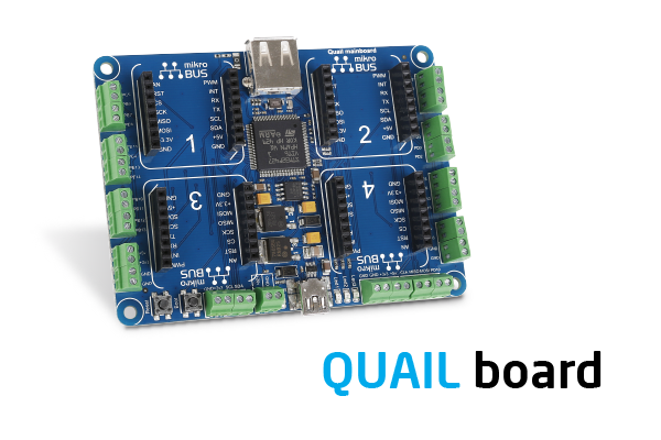 Quail board brings together click boards and Microsoft's