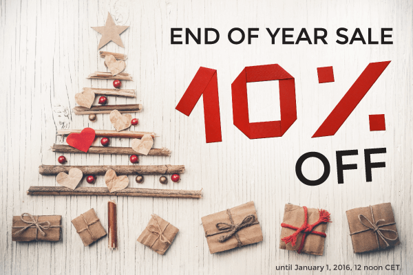 End-of-year sale