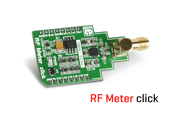 A RF power meter system fits on this click board