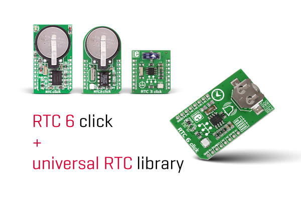 RTC6 click and universal RTC library