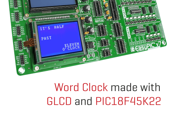 Word clock on EasyPIC v7