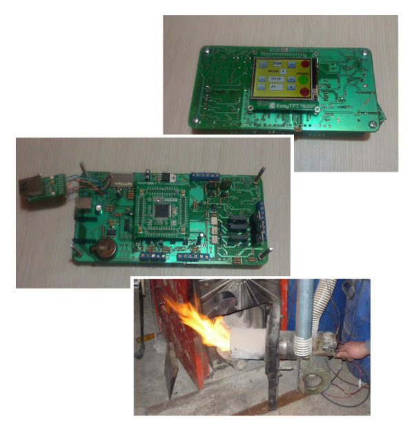 Biomass Pellet burner controller with MikroE tools