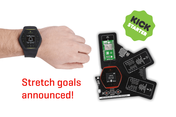 Hexiwear stretch goals on Kickstarter
