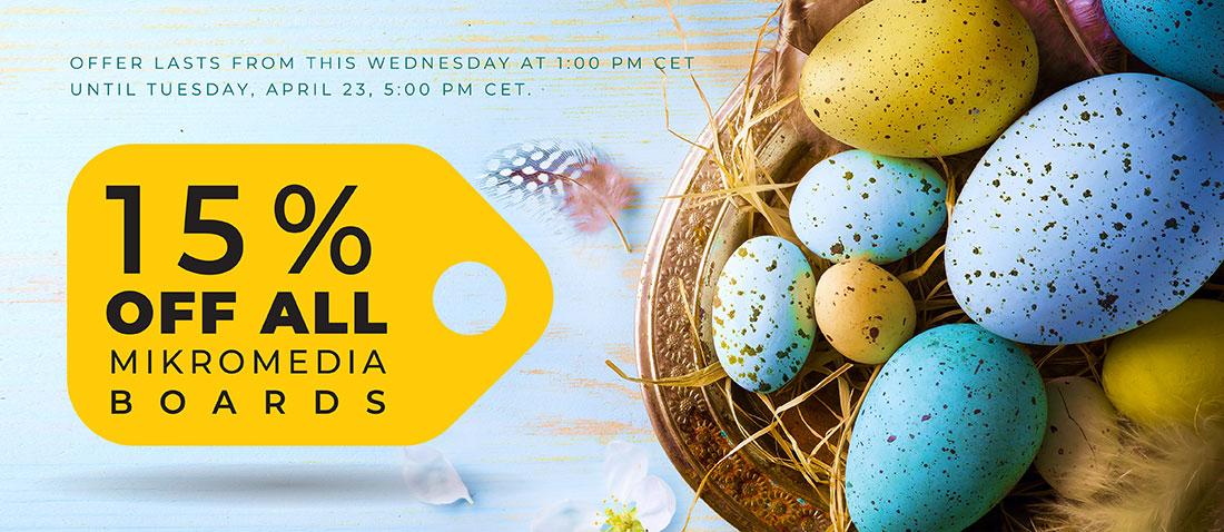 Special Easter offer — 15% Easter eggs mikromedia