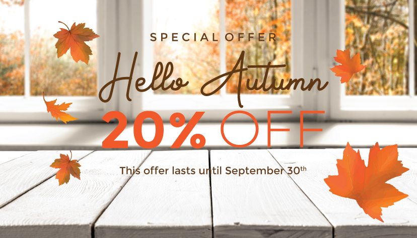Autumn with 20% OFF