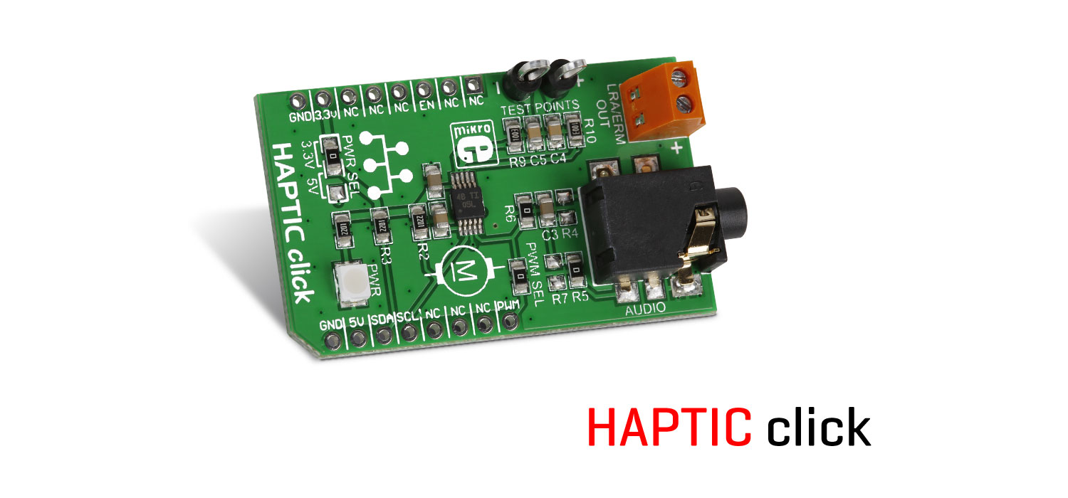 Haptic click - Feel the code on your skin!