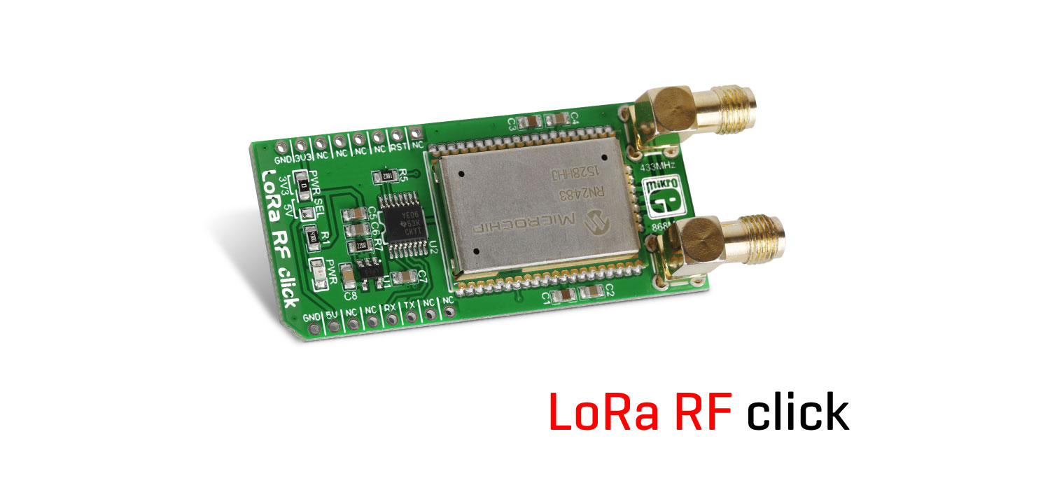 LoRa RF click - solution for IOT developers