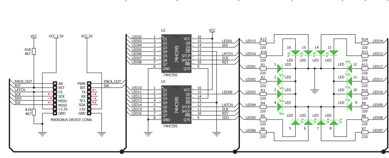 Leds And Bit Shifting A Shift Register Tutorial Blinking Led Circuit Click For Pdf Version