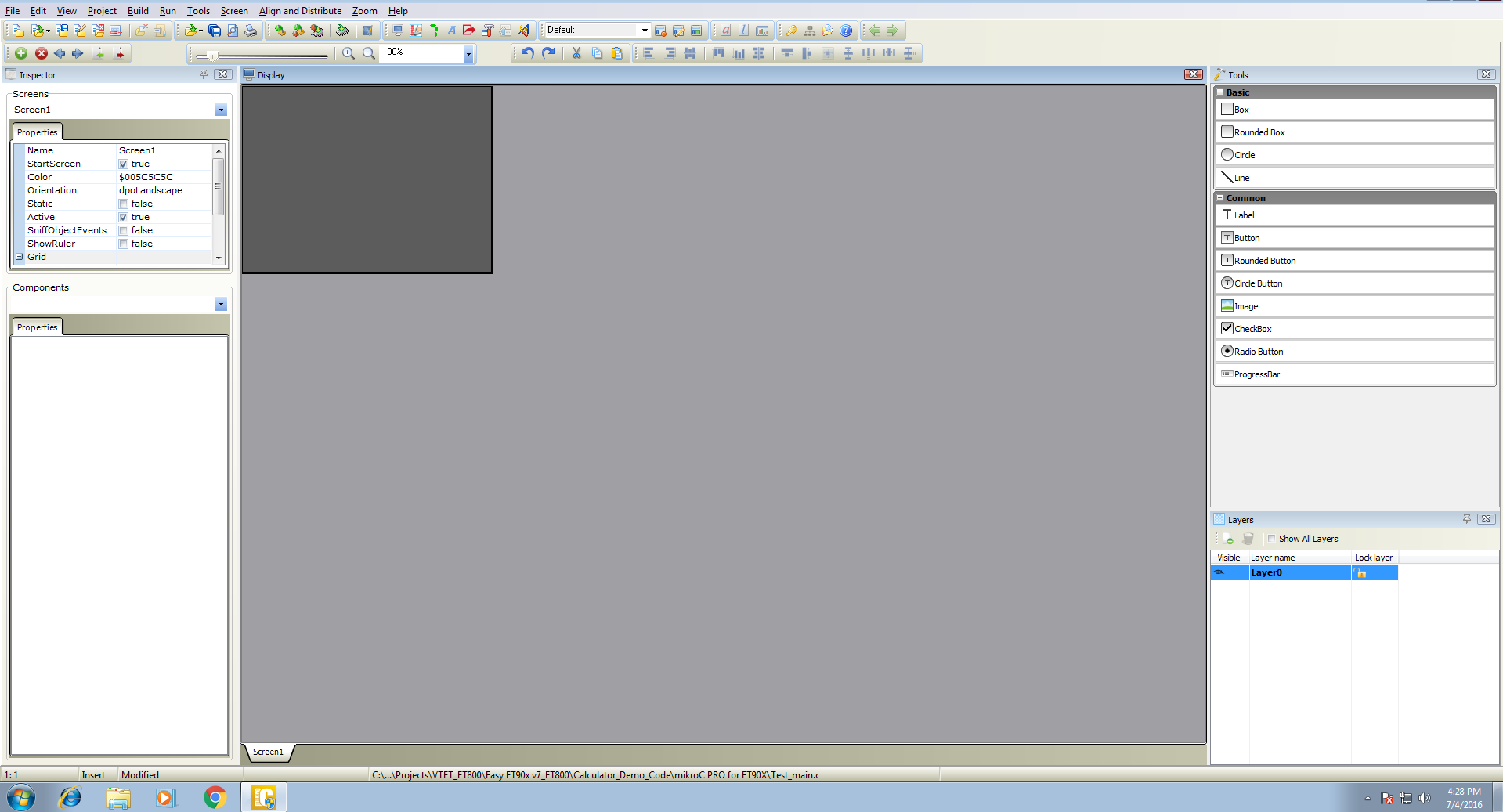 Visual TFT mode