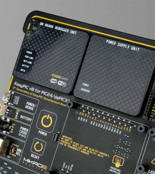 EasyPIC v8 for PIC24/dsPIC33 power supply