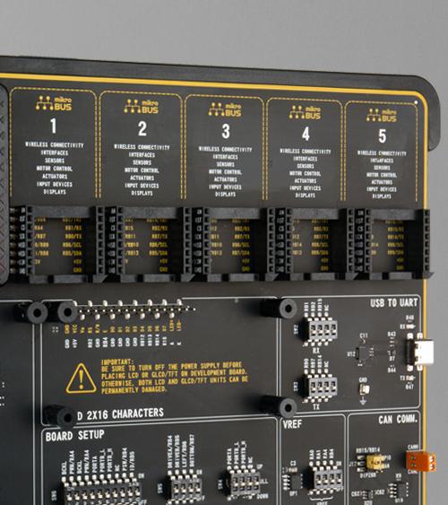 EasyPIC v8 for dsPIC33 mikrobus five socket easypic