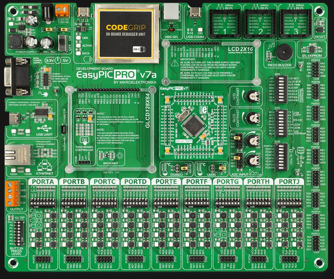 EasyPIC PRO v7a development board