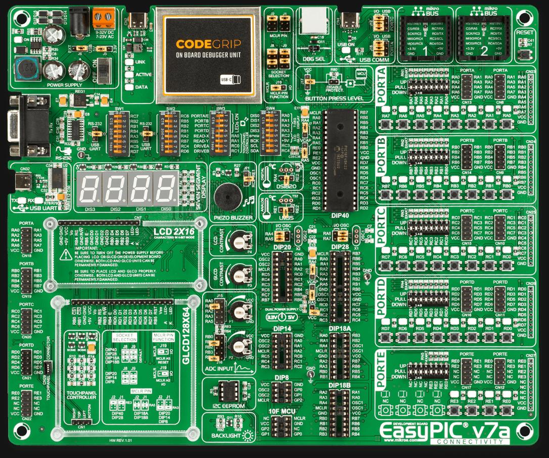 EasyPIC v7a development board