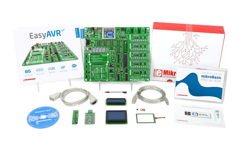 Mikroe EasyAVR v7 easy start basic