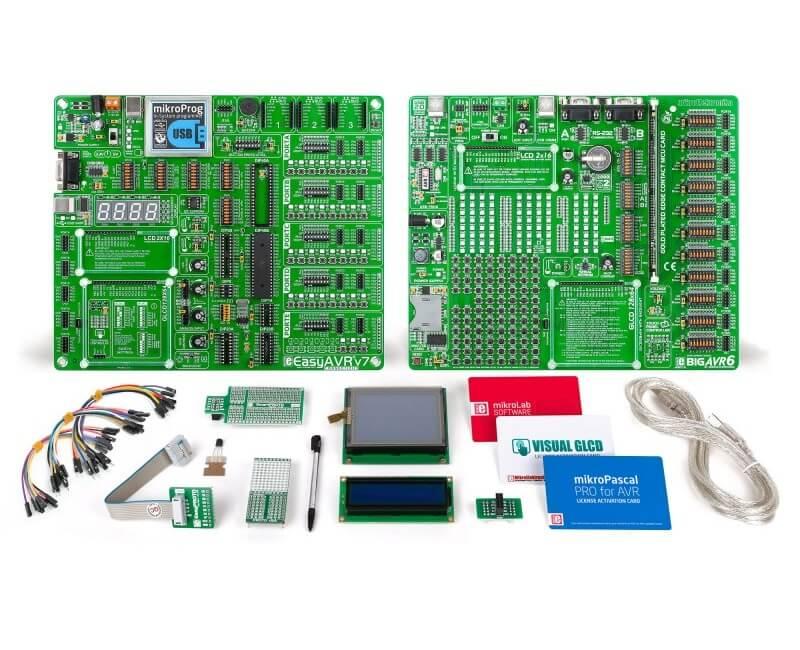 EasyAVR v7 - AVR Development Board with In-System Programmer