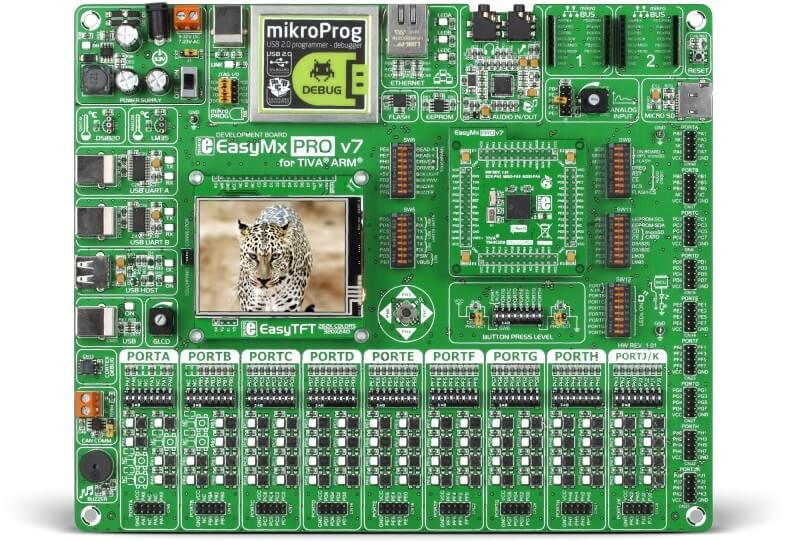 EasyMx PRO v7 for TIVA - ARM Cortex-M4 development board