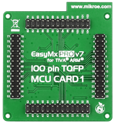 Mikroe EasyMx PRO v7 for Tiva MCU card with TM4C123GH6PZL back
