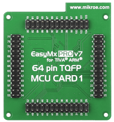 Mikroe EasyMx PRO v7 for Tiva MCU card with TM4C123GH6PMI back