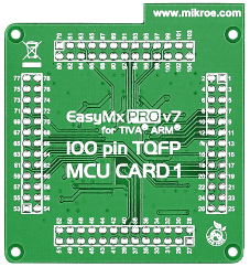 Mikroe EasyMx PRO v7 for Tiva Empty MCU card for 100-pin TQFP TM4C123 series back