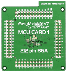 Mikroe EasyMx PRO v7 for Tiva Empty MCU card for 212-pin BGA TM4C129 series back