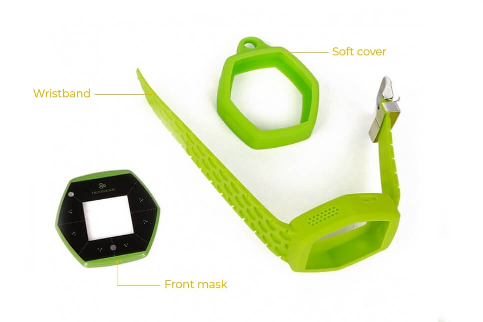 hexiwear wristband softcover green