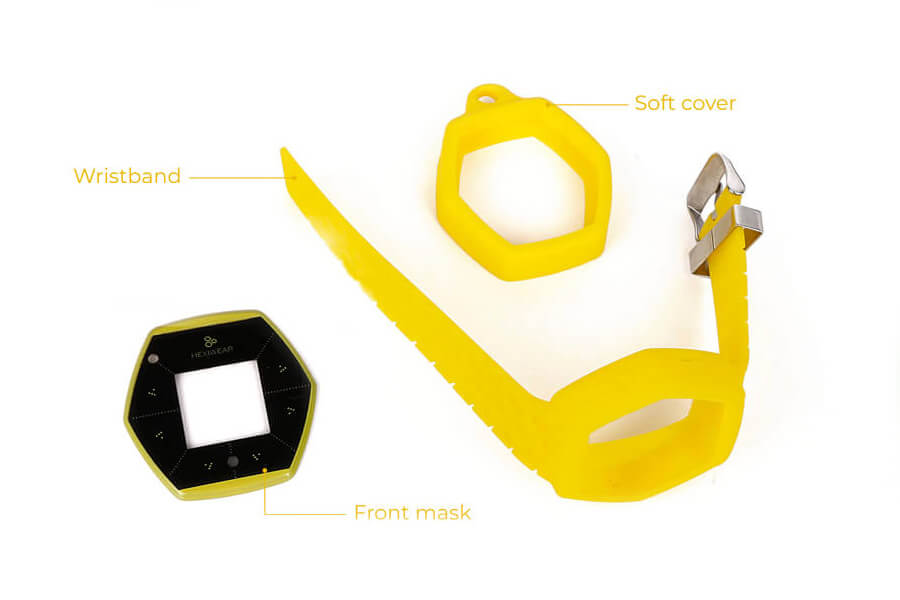 hexiwear wristband softcover yellow