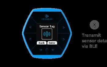 hexiwear sensor tag blue