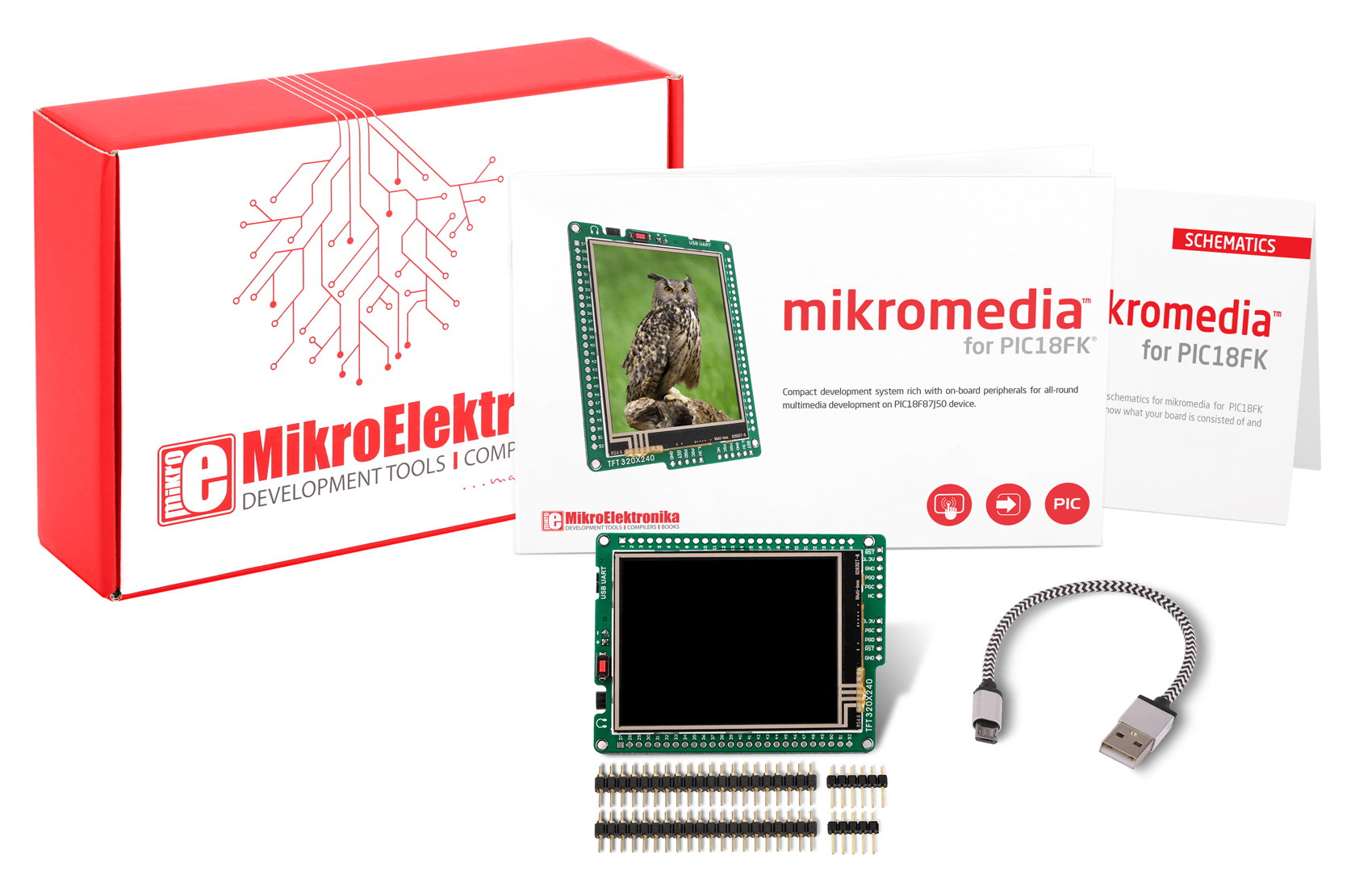 mikromedia for PIC18FK what is in box