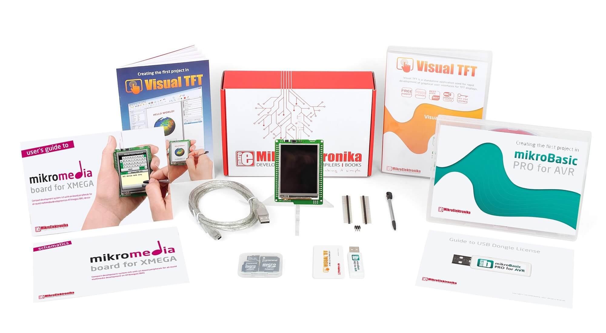 Mikromedia For Xmega Avr Development Board Multimedia Basics Updated Using An Accelerometer With Microcontroller Tft Developer Basic Kit