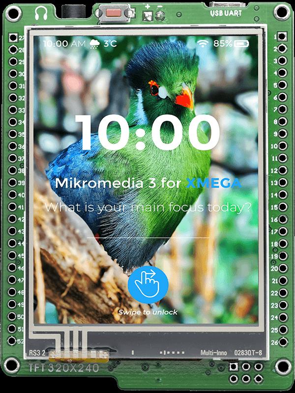 mikromedia for XMEGA - AVR Development Board For Multimedia
